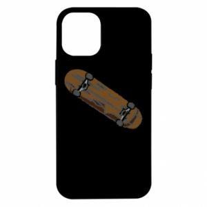 Etui na iPhone 12 Mini Brązowa deskorolka