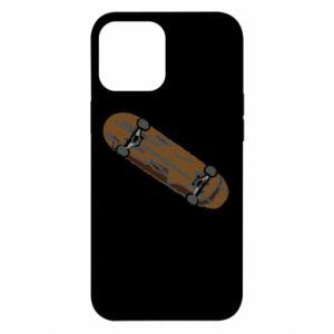Etui na iPhone 12 Pro Max Brązowa deskorolka