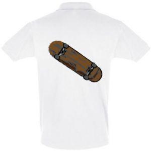 Koszulka Polo Brązowa deskorolka
