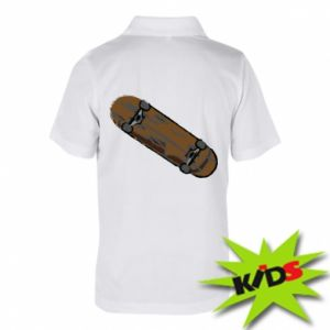 Koszulka polo dziecięca Brązowa deskorolka