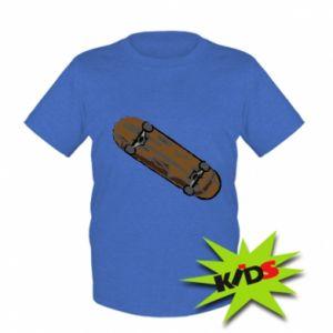 Dziecięcy T-shirt Brązowa deskorolka