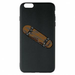 Phone case for iPhone 6 Plus/6S Plus Brown skate board