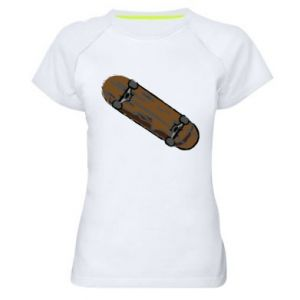 Koszulka sportowa damska Brązowa deskorolka