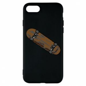 Phone case for iPhone 8 Brown skate board