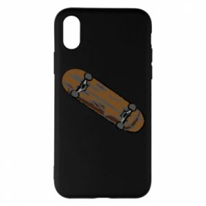 Phone case for iPhone X/Xs Brown skate board