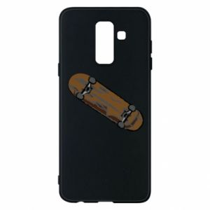 Phone case for Samsung A6+ 2018 Brown skate board