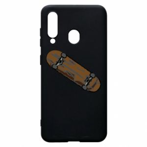 Phone case for Samsung A60 Brown skate board