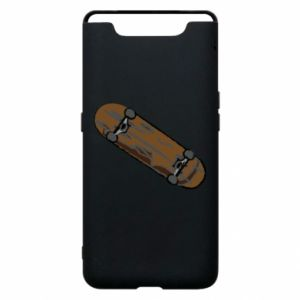 Phone case for Samsung A80 Brown skate board