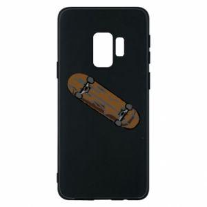 Etui na Samsung S9 Brązowa deskorolka