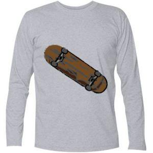 Koszulka z długim rękawem Brązowa deskorolka - PrintSalon