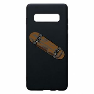 Phone case for Samsung S10+ Brown skate board