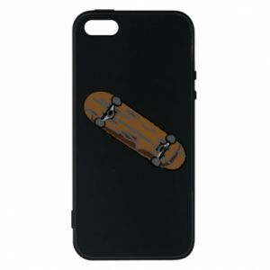Phone case for iPhone 5/5S/SE Brown skate board