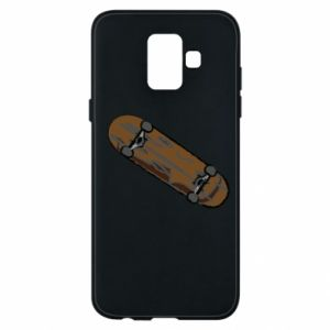 Phone case for Samsung A6 2018 Brown skate board