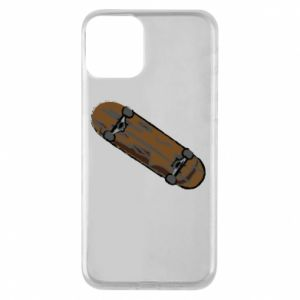 Phone case for iPhone 11 Brown skate board