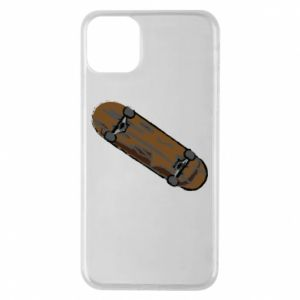 Phone case for iPhone 11 Pro Max Brown skate board