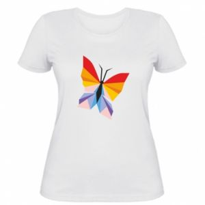 Women's t-shirt Bright butterfly abstraction - PrintSalon