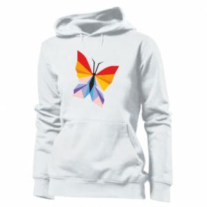 Women's hoodies Bright butterfly abstraction - PrintSalon