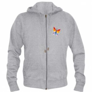 Men's zip up hoodie Bright butterfly abstraction - PrintSalon