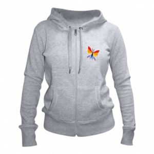 Women's zip up hoodies Bright butterfly abstraction - PrintSalon