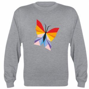 Sweatshirt Bright butterfly abstraction - PrintSalon