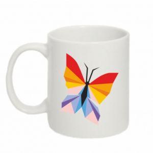 Mug 330ml Bright butterfly abstraction - PrintSalon