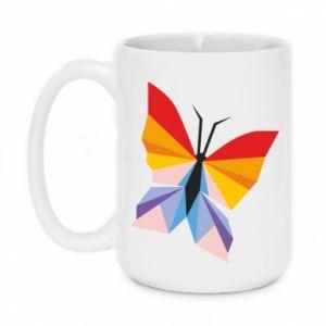 Mug 450ml Bright butterfly abstraction - PrintSalon