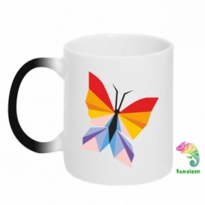 Chameleon mugs Bright butterfly abstraction - PrintSalon