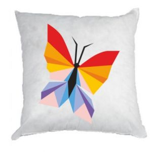 Pillow Bright butterfly abstraction - PrintSalon