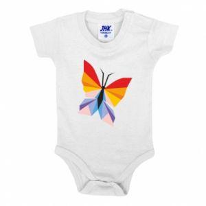 Baby bodysuit Bright butterfly abstraction - PrintSalon