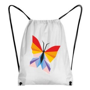 Backpack-bag Bright butterfly abstraction - PrintSalon