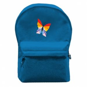 Backpack with front pocket Bright butterfly abstraction - PrintSalon