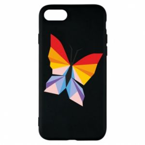 Phone case for iPhone 7 Bright butterfly abstraction - PrintSalon