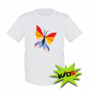 Kids T-shirt Bright butterfly abstraction - PrintSalon