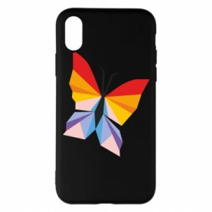 Phone case for iPhone X/Xs Bright butterfly abstraction - PrintSalon