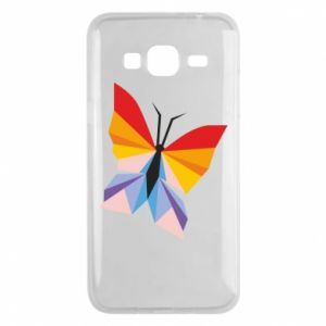 Phone case for Samsung J3 2016 Bright butterfly abstraction - PrintSalon