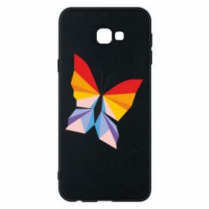Phone case for Samsung J4 Plus 2018 Bright butterfly abstraction - PrintSalon