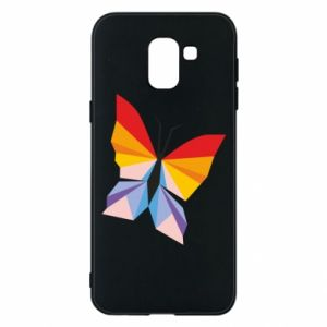 Phone case for Samsung J6 Bright butterfly abstraction - PrintSalon