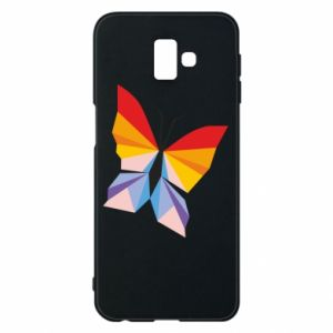 Phone case for Samsung J6 Plus 2018 Bright butterfly abstraction - PrintSalon