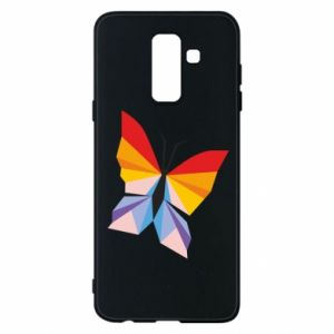 Phone case for Samsung A6+ 2018 Bright butterfly abstraction - PrintSalon