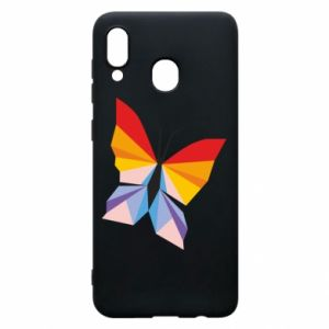 Phone case for Samsung A20 Bright butterfly abstraction - PrintSalon
