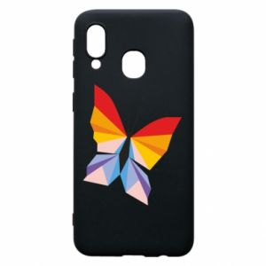 Phone case for Samsung A40 Bright butterfly abstraction - PrintSalon