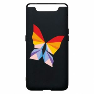 Phone case for Samsung A80 Bright butterfly abstraction - PrintSalon