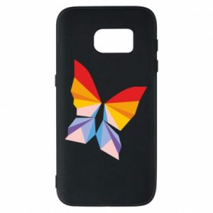 Phone case for Samsung S7 Bright butterfly abstraction - PrintSalon