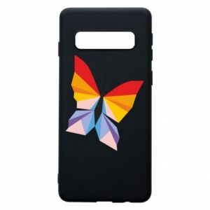 Phone case for Samsung S10 Bright butterfly abstraction - PrintSalon