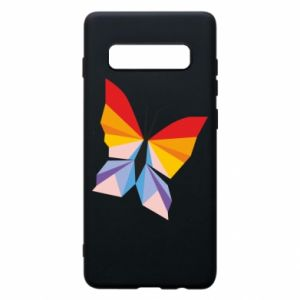Phone case for Samsung S10+ Bright butterfly abstraction - PrintSalon
