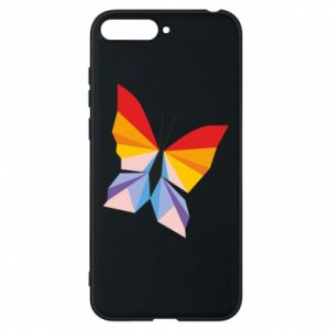 Phone case for Huawei Y6 2018 Bright butterfly abstraction - PrintSalon