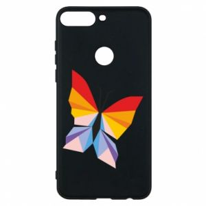 Phone case for Huawei Y7 Prime 2018 Bright butterfly abstraction - PrintSalon