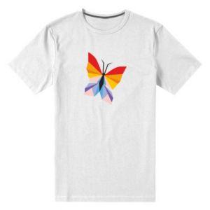 Men's premium t-shirt Bright butterfly abstraction - PrintSalon