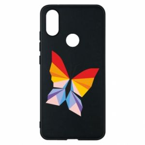 Phone case for Xiaomi Mi A2 Bright butterfly abstraction - PrintSalon