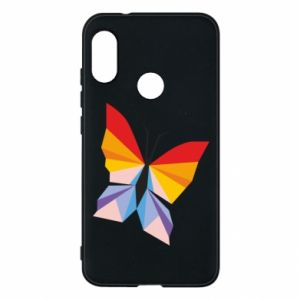 Phone case for Mi A2 Lite Bright butterfly abstraction - PrintSalon